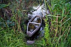Natura dell'Ucraina Barche sulla sponda del fiume fotografia stock libera da diritti