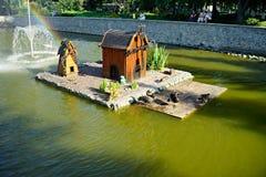 Natura dell'Ucraina Località di soggiorno di Myrgorod fotografia stock
