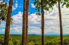 Natura della montagna del cielo Immagini Stock
