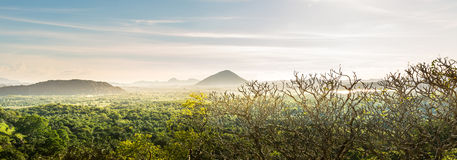 Natura della montagna del paesaggio scenico della valle, Ceylon Immagini Stock Libere da Diritti