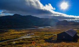 Natura della Norvegia vicino a Gaustatoppen Fotografia Stock Libera da Diritti