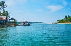 Natura della regione di Irrawaddy di Myanmar, Ngwesaung fotografia stock libera da diritti