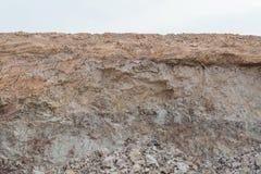 Natura della sezione del suolo immagine stock libera da diritti