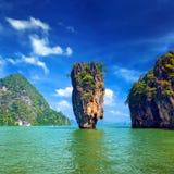 Paesaggio tropicale di vista dell'isola di James Bond Fotografia Stock