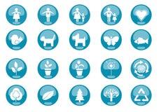 Natura delle icone illustrazione di stock