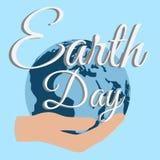 Natura di cura del pianeta di giorno di terra Immagini Stock Libere da Diritti