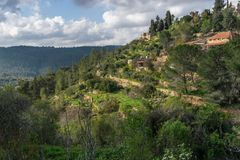 Natura di Ein Karem fotografia stock libera da diritti