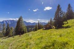 Natura di Lesachtal Gailtal del paesaggio di estate delle montagne dell'Austria Immagine Stock