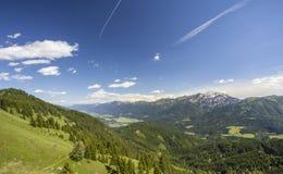 Natura di Lesachtal Gailtal del paesaggio di estate delle montagne dell'Austria Immagini Stock Libere da Diritti