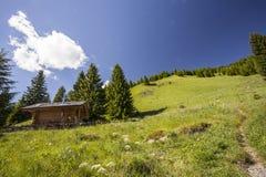Natura di Lesachtal Gailtal del paesaggio di estate delle montagne dell'Austria Fotografie Stock