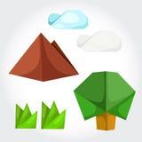 Natura di origami Royalty Illustrazione gratis
