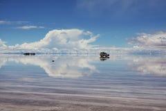Natura di stupore in Salar de Uyuni, Bolivia fotografie stock libere da diritti