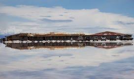 Natura di stupore in Salar de Uyuni, Bolivia fotografie stock