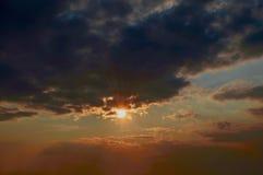Natura 01 di tramonto Fotografie Stock