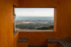 Natura di trascuratezza della finestra arancio Immagine Stock