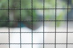 Natura dietro il nastro metallico Fotografia Stock Libera da Diritti