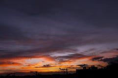 Natura drukująca w niebie Obraz Stock