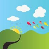 Natura e cielo blu Immagine Stock Libera da Diritti