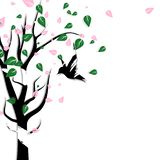 Natura e progettazione animale della fauna selvatica con arte co della carta della spazzola di lerciume illustrazione di stock