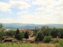 Natura e villaggio bulgari Fotografia Stock Libera da Diritti