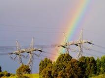 Natura ed elettricità Immagini Stock Libere da Diritti