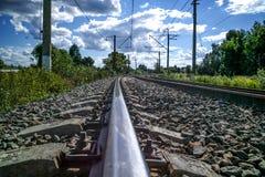Natura ferroviaria Fotografia Stock Libera da Diritti