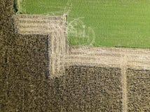 Natura i krajobraz: Widok z lotu ptaka pole Zdjęcie Stock