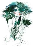 Natura i piękno royalty ilustracja