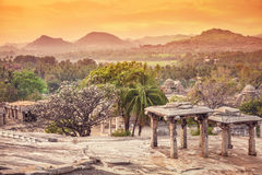 Natura i ruiny w Hampi Obraz Stock