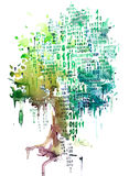 Natura i technologia Ilustracja Wektor