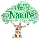 Natura - illustrazione della nuvola di parola Fotografia Stock Libera da Diritti