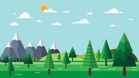 Natura krajobraz i eco pojęcie Obraz Stock