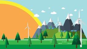 Natura krajobraz i eco pojęcie Obrazy Royalty Free