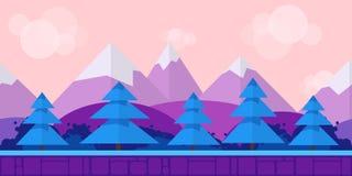 Natura krajobraz, tło dla gier Obrazy Stock