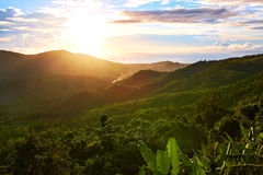 Natura krajobraz Tajlandia zmierzch adobe tło tworzył ilustratora scenerii oprogramowanie environ zdjęcie royalty free