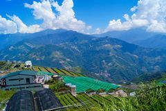 Natura krajobraz Tajwan, Cingjing - Fotografia Stock