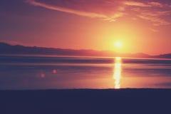 Natura krajobraz wschód słońca na morzu Obrazy Stock