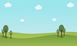 Natura krajobraz z niebieskich nieb tło ilustracji