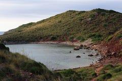 Natura krajobrazy w Menorca wyspie, Hiszpania Śródziemnomorski raj Podróż Europa zaniki Obraz Royalty Free