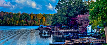 Natura krajobrazy wokoło jeziornych wylie południe Carolina Obrazy Stock
