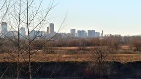 Natura & la città Fotografia Stock