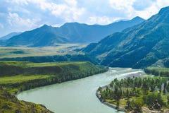Natura leggera delle montagne Fotografie Stock Libere da Diritti
