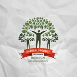 Natura loga projekta wektorowy szablon ekologia lub życiorys Obrazy Stock
