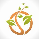 Natura logo Obrazy Royalty Free