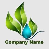 Natura logo zdjęcie stock