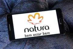 Natura logo. Logo of natura beauty care company on samsung mobile Royalty Free Stock Photography