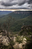 Natura in montagne blu Australia Fotografia Stock