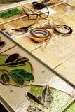 Natura morta al produttore di vetro macchiato Fotografie Stock