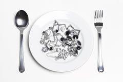 Natura morta astratta del menu dei gioielli Fotografia Stock