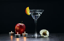 Natura morta con i vetri di Martini Immagine Stock Libera da Diritti